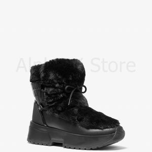NWT Michael Kors Cassia Faux Fur and Leather Boot